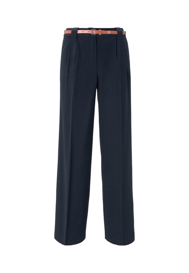 LEA STRAIGHT - Pantalon classique - sky captain blue