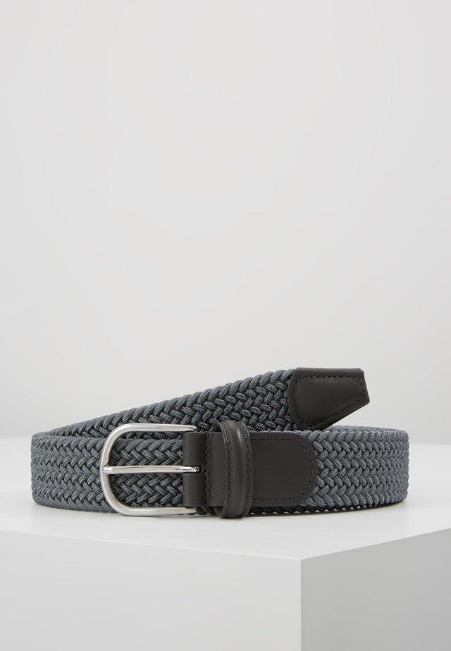 BELT - Flettet belte - grey
