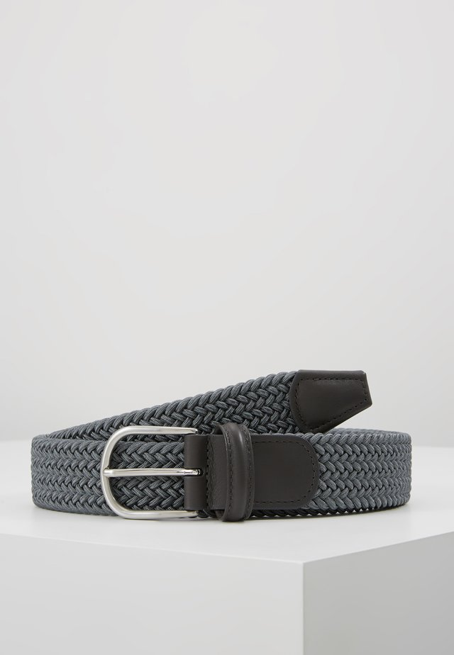 BELT - Braided belt - grey