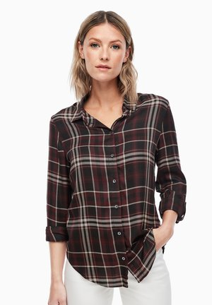 MIT TARTAN-CHECK - Button-down blouse - dark red check