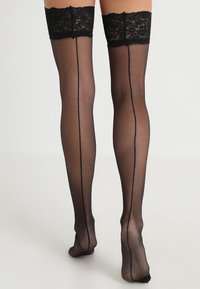 Bluebella - BACK SEAM LEG TOPPED STOCKINGS - Over-the-knee socks - black - 0