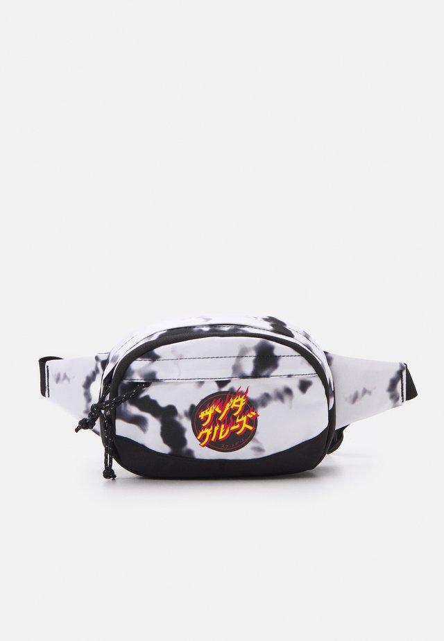 FLAMING JAPANESE DOT WAISTPACK TIE DYE UNISEX - Bum bag - white/black