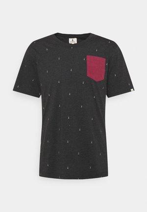 BASIC - T-shirt print - black melange