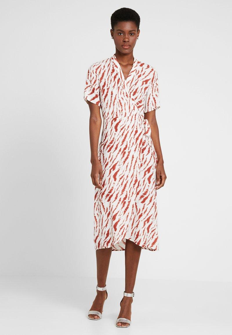 PIECES Tall - PCEYVA WRAP DRESS  - Maxi dress - bright white/redwood