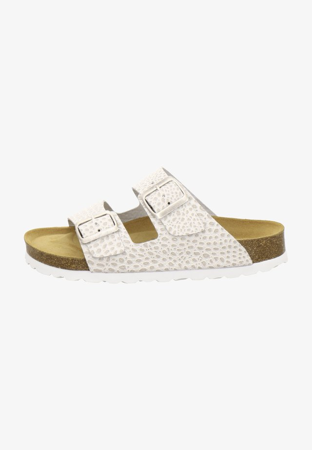 ZWEISCHNALLER - Slippers - beige crocco