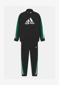 adidas Performance - SET UNISEX - Tracksuit - black/core green/white - 0