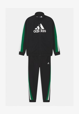 SET UNISEX - Tracksuit - black/core green/white