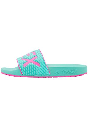 TERREX ADILETTE - Sandály do bazénu - acid mint/screaming pink