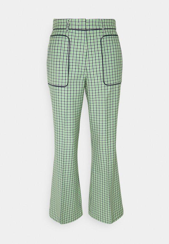 PANT - Pantalon classique - verde/blu