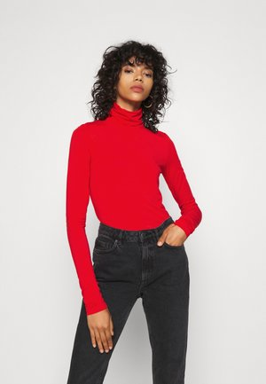 CHIE TURTLENECK - Long sleeved top - red