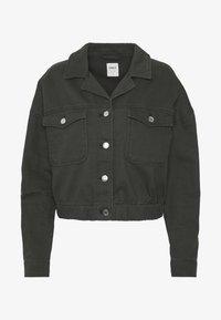 ONLY - ONLNELL ELASTIC POCKET JACKET - Denim jacket - forest night - 4