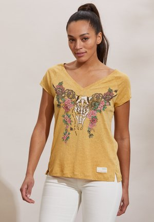 HENNA - Print T-shirt - golden biscotti
