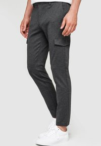 INDICODE JEANS - SUPER STRETCH ECKHART - Cargo trousers - charcoal mix - 3