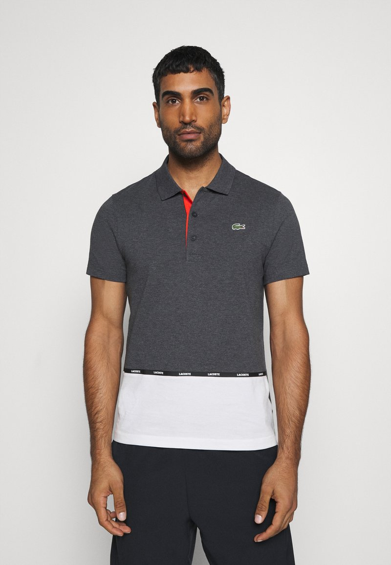 Lacoste Sport - TAPING - Polo shirt - pitch chine/flour/gladiolus