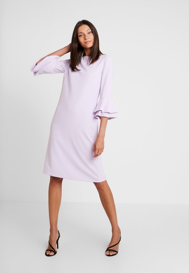 DRESS WITH VOLANTS - Day dress - lavender