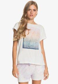 Roxy - SUMMERTIME HAPPINESS  - Print T-shirt - snow white - 0