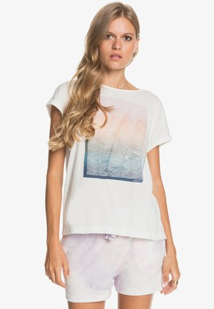 SUMMERTIME HAPPINESS  - Print T-shirt - snow white