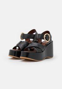 See by Chloé - LYNA WEDGE - Platform sandals - black - 2