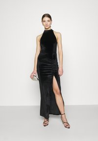 Nly by Nelly - DRAPY HIGHNECK GOWN - Occasion wear - black - 1