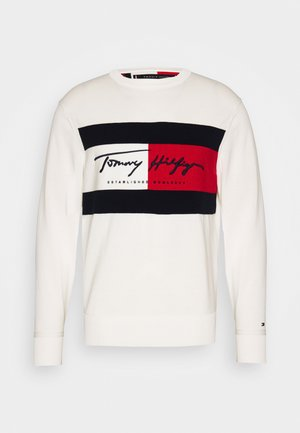 AUTOGRAPH FLAG - Pullover - white