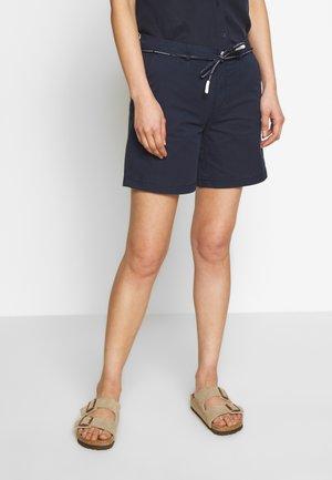 TURN UP BELT LOOPS ROUND DRAW STRING - Shorts - scandinavian blue