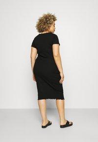 Even&Odd Curvy - Žerzejové šaty - black - 2