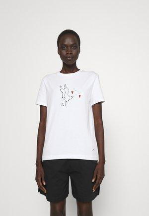 DOVE  - Print T-shirt - white