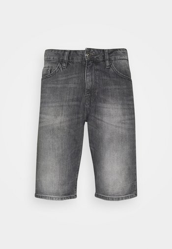JOSH - Denim shorts - clean light stone grey denim