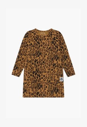 BABY BASIC LEOPARD DRESS - Jersey dress - beige