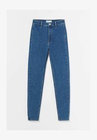 Bershka - SUPER HIGH WAIST - Jeans slim fit - dark blue - 4