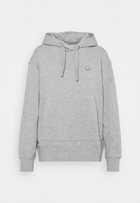 DAPHNE BASIC BADGE HOODIE  - Sweatshirt - grey melange
