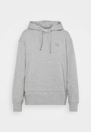 DAPHNE BASIC BADGE HOODIE  - Sweatshirt - grey melange