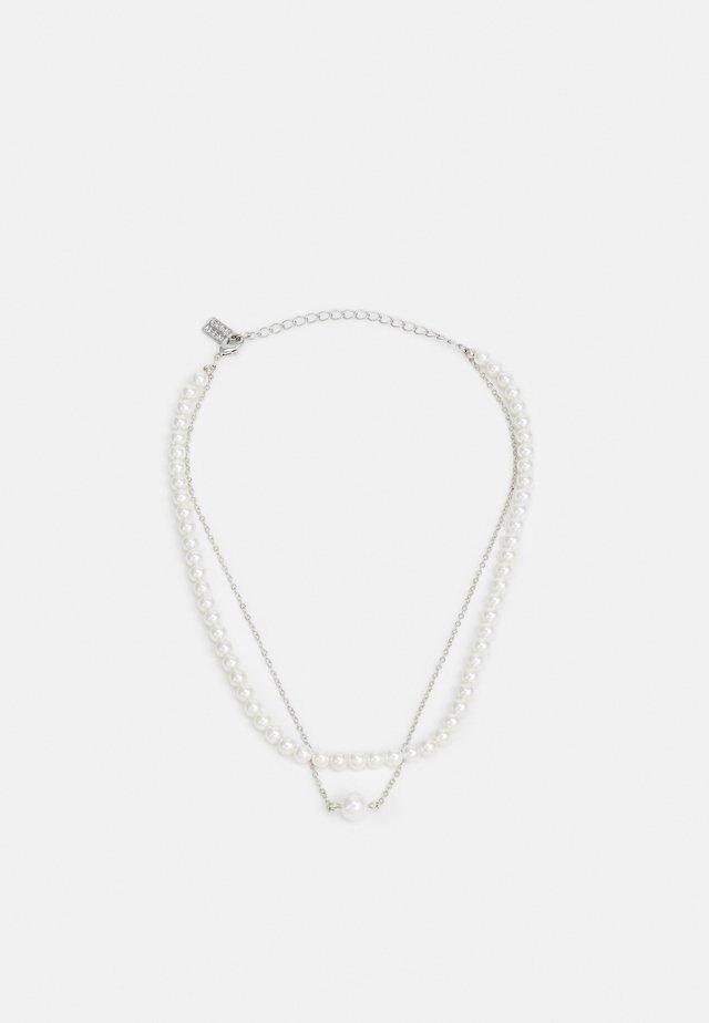Naszyjnik - silver-coloured/pearl
