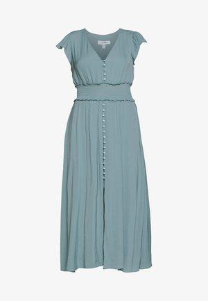 BUTTON FRONT MIDI DRESS - Shirt dress - jade stone