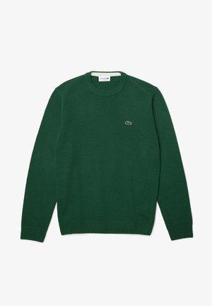 Stickad tröja - green