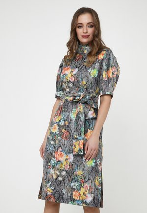 Shift dress - braun, gelb