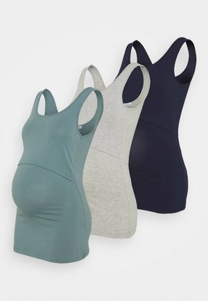 NURSING 3er PACK - Top - Topper - dark blue/teal /light grey