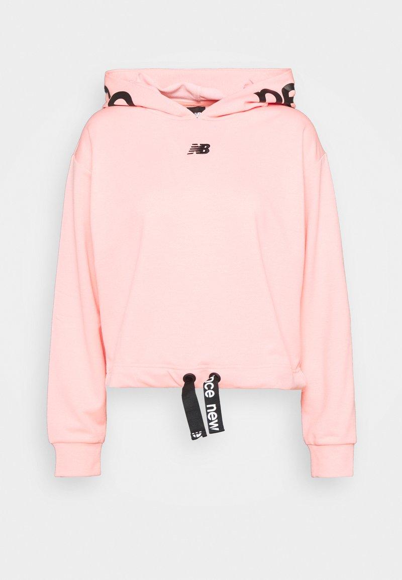 New Balance - RELENTLESS CINCHED HEM HOODIE - Sweatshirt - paradise pink heather