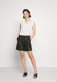 Culture - ALINA - Leather trousers - black - 1