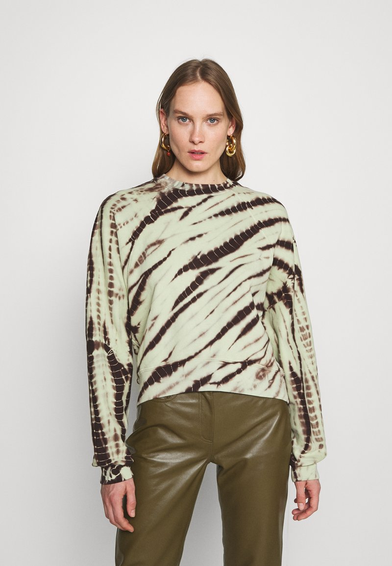 Proenza Schouler White Label - MODIFIED RAGLAN TIE DYE - Sweatshirt - spanish moss/grass
