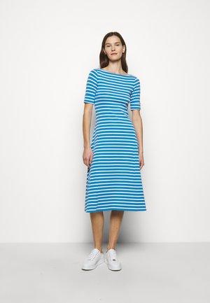 Jersey dress - captain blue/white