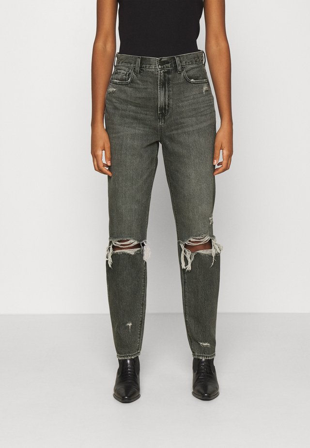 HIGHEST RISE MOM - Jeans slim fit - black wash