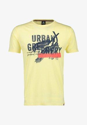 URBAN GREENERY - Print T-shirt - pale yellow