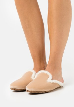 INDOOR MULES - Slippers - beige