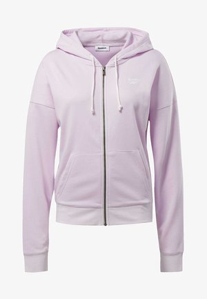 TRAINING ESSENTIALS FULL-ZIP HOODIE - Sweatjakke /Træningstrøjer - pixel pink