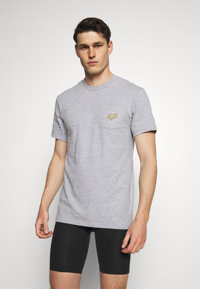BRONCA POCKET TEE - Camiseta estampada - light heather grey