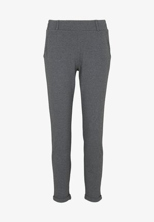 Trousers - dark grey herringbone