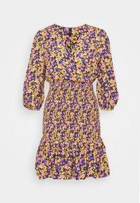YASSORI SMOCK DRESS - Denní šaty - black/olive