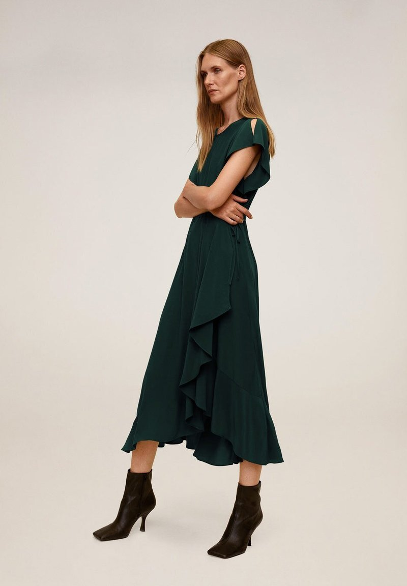 Mango - VERDENA - Day dress - smaragdgrün