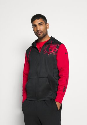 NFL SAN FRANCISCO 49ERS LEFT CHEST MASCOT FULL-ZIP THERMA - Article de supporter - black/gym red